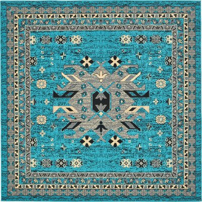 Sina Turquoise Area Rug Rug Size: Rectangle 4 x 6