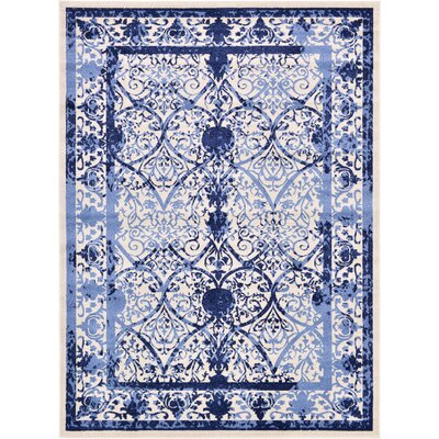 Chappel Blue Indoor/Outdoor Area Rug Rug Size: 8 x 11