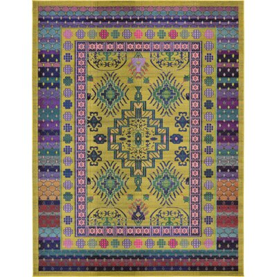 Iris Gold Area Rug Rug Size: 9 x 12
