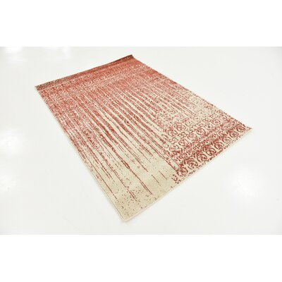 Dungan Red Area Rug Rug Size: Rectangle 4 x 57