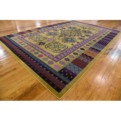 Iris Gold Area Rug Rug Size: Rectangle 8 x 11