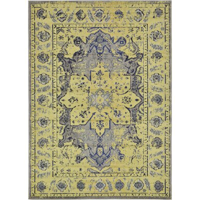 Iris Gray Area Rug Rug Size: Rectangle 7 x 10