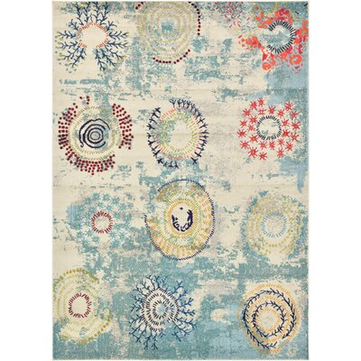 Aquarius Blue Area Rug Rug Size: Rectangle 7 x 10