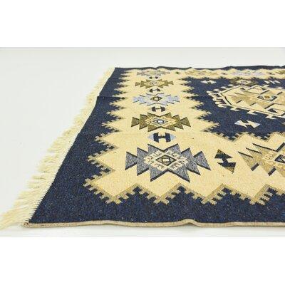 Izidora Navy Blue Southwestern Area Rug Rug Size: 66 x 97