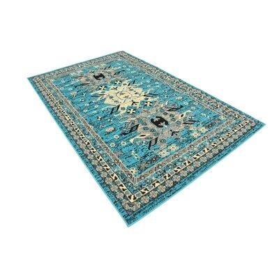 Sina Turquoise Area Rug Rug Size: 5 x 8
