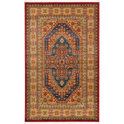 Zoey Red Area Rug Rug Size: 5 x 8