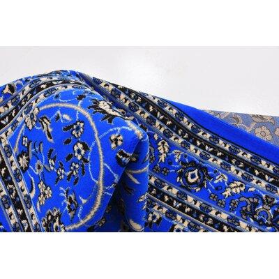 Jeanelle Dark Blue Area Rug Rug Size: 9 x 12
