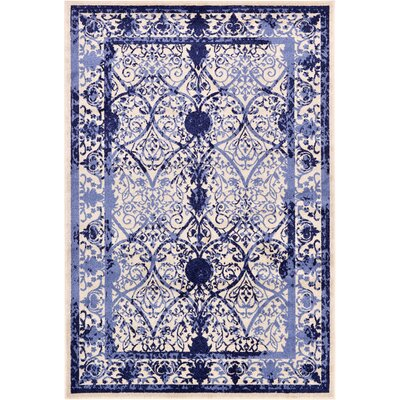 Chappel Blue Indoor/Outdoor Area Rug Rug Size: 6 x 9