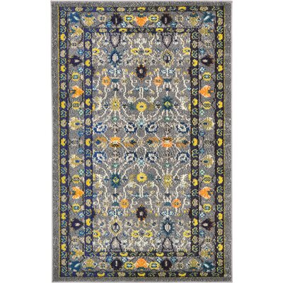Iris Gray Area Rug Rug Size: Rectangle 2 x 7
