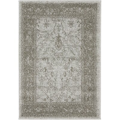 Imperial Gray & Green Area Rug Rug Size: 22 x 3