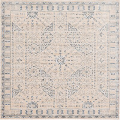 Plaisance Beige Area Rug Rug Size: Square 8