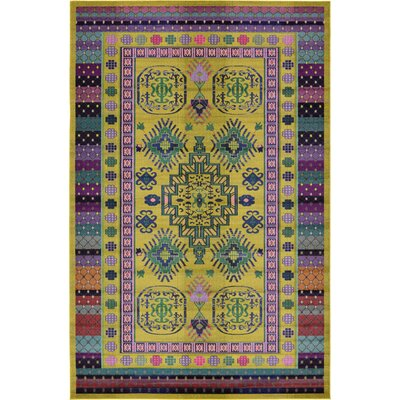 Iris Gold Area Rug Rug Size: Rectangle 10'6