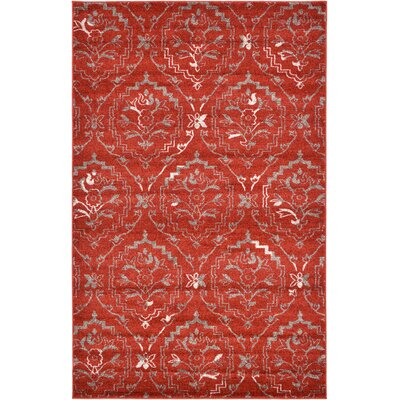 Ezequiel Terracotta Area Rug Rug Size: 5 x 8