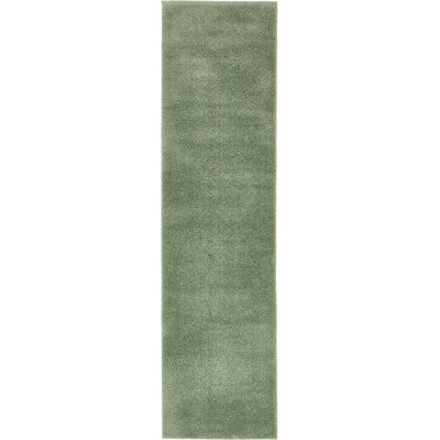 Korth Sage Green Area Rug Rug Size: Runner 27 x 10