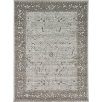 Imperial Gray & Green Area Rug Rug Size: 8 x 11