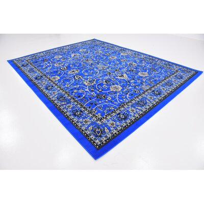 Jeanelle Dark Blue Area Rug Rug Size: Rectangle 8 x 10