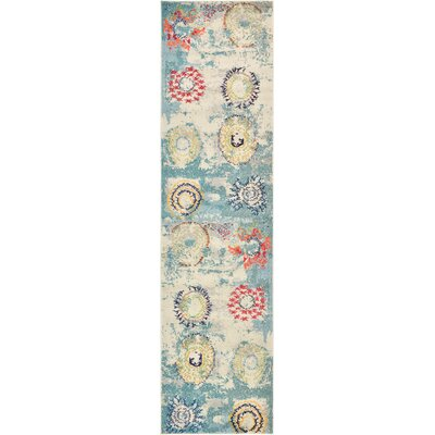 Killington Blue Area Rug Rug Size: Runner 27 x 10