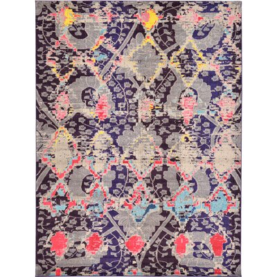 Delane Navy Blue Area Rug Rug Size: Rectangle 9 x 12