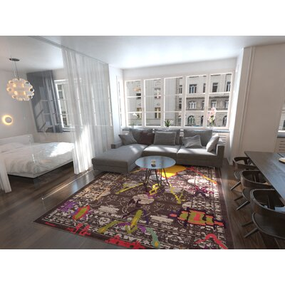 Phillips Brown Area Rug Rug Size: Rectangle 9 x 12