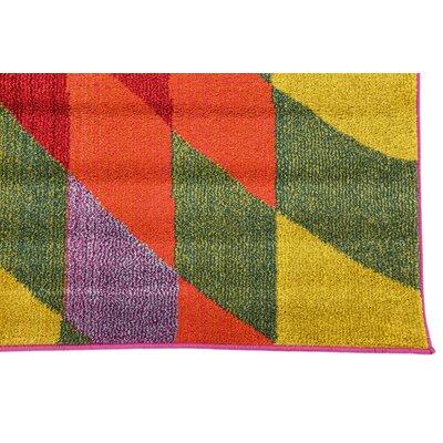 Oldsmar Pink/Green Area Rug Rug Size: Rectangle 106 x 165