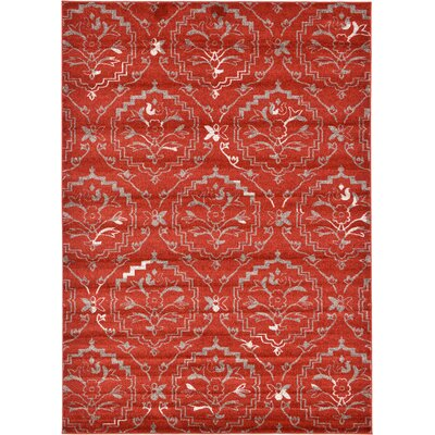 Ezequiel Terracotta Area Rug Rug Size: Rectangle 7 x 10