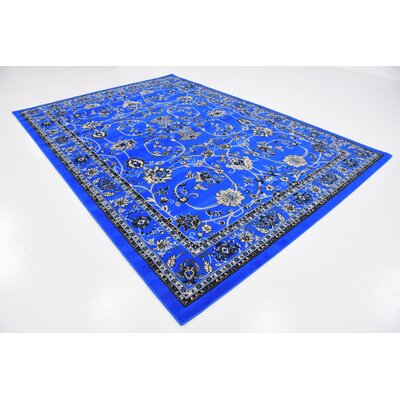 Essehoul Dark Blue Area Rug Rug Size: Rectangle 7 x 10