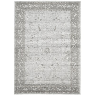 Imperial Gray & Green Area Rug Rug Size: 7 x 10