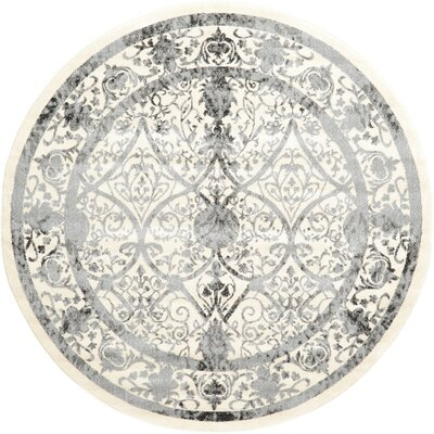 Shailene Ivory Area Rug Rug Size: Round 6