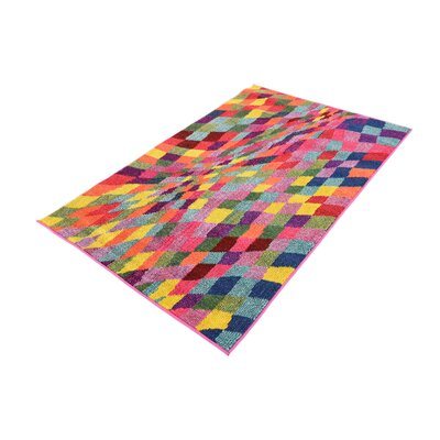 Oldsmar Pink/Green Area Rug Rug Size: 33 x 53