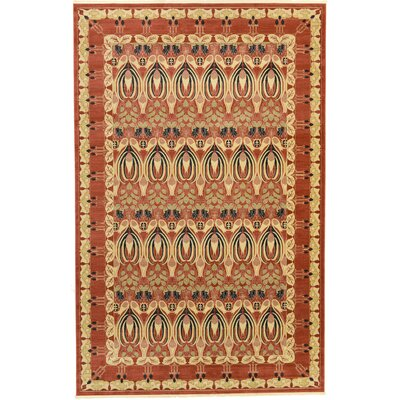 Sebou Rust Red Area Rug Rug Size: 106 x 165