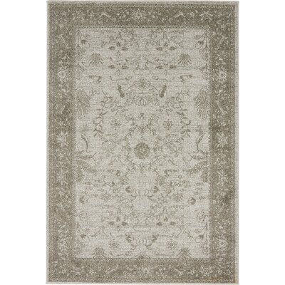 Imperial Gray & Green Area Rug Rug Size: 4 x 6