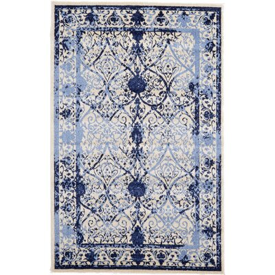 Chappel Blue Indoor/Outdoor Area Rug Rug Size: 5 x 8