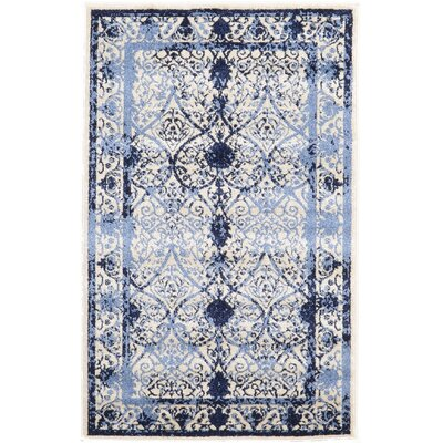 Chappel Blue Indoor/Outdoor Area Rug Rug Size: 33 x 53