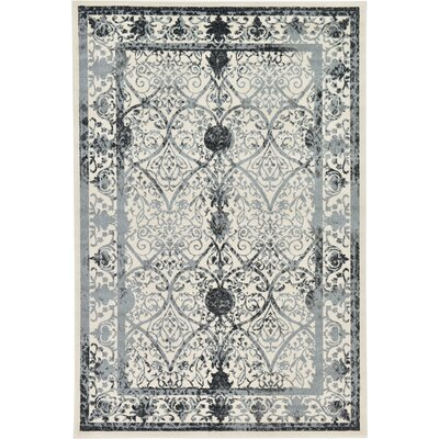 Lisbon Ivory Area Rug Rug Size: Rectangle 6 x 9