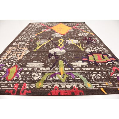 Phillips Brown Area Rug Rug Size: 9 x 12