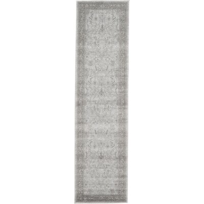 Imperial Gray & Green Area Rug Rug Size: Runner 27 x 10