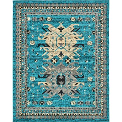 Sina Turquoise Area Rug Rug Size: Rectangle 8 x 10