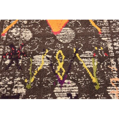 Phillips Brown Area Rug Rug Size: 33 x 53
