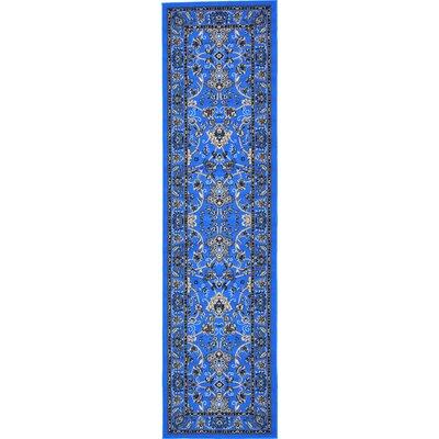 Jeanelle Dark Blue Area Rug Rug Size: Runner 27 x 10