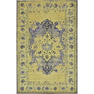 Iris Gray Area Rug Rug Size: Rectangle 106 x 165
