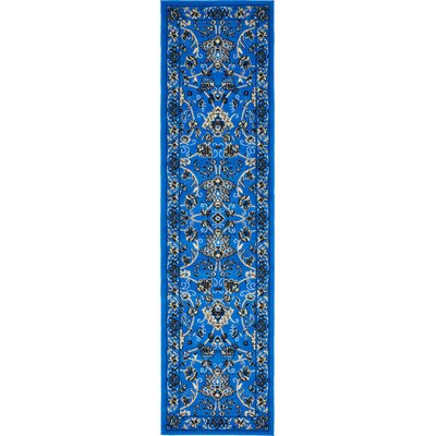 Essehoul Dark Blue Area Rug Rug Size: Runner 22 x 82
