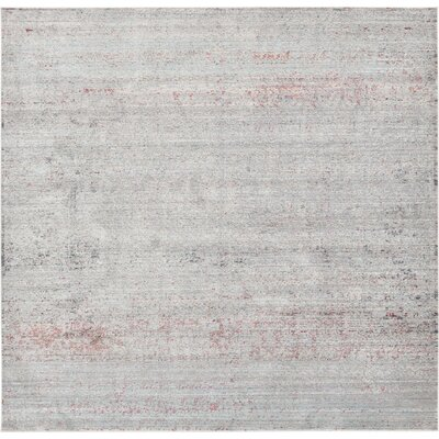 Danbury Gray Area Rug Rug Size: Square 8