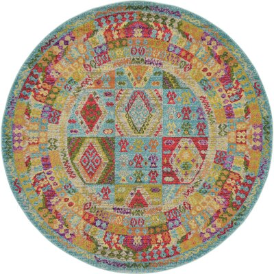 Phillips Light Blue Area Rug Rug Size: 106 x 165