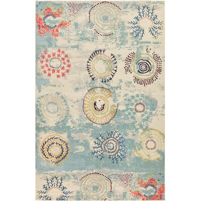 Aquarius Blue Area Rug Rug Size: Rectangle 106 x 165
