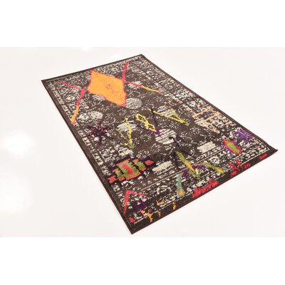 Phillips Brown Area Rug Rug Size: Rectangle 33 x 53