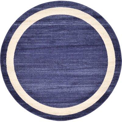Christi Blue/Beige Area Rug Rug Size: Round 6