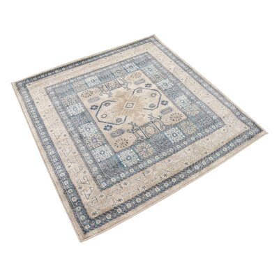 Basswood Beige Area Rug Rug Size: Square 4