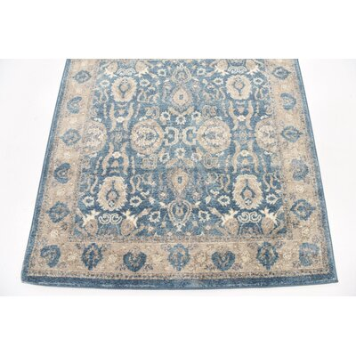 Basswood Light Blue Area Rug Rug Size: Square 4