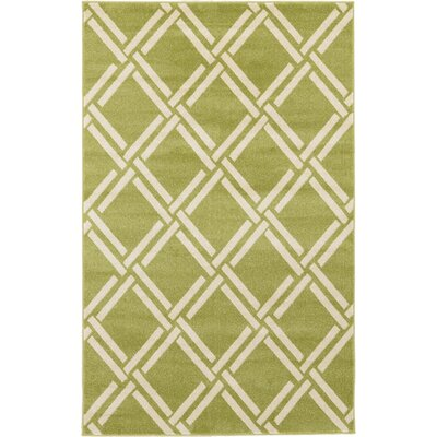 Storyvale Green Area Rug Rug Size: Rectangle 5 x 8