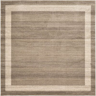 Christi Brown/Beige Area Rug Rug Size: Square 8